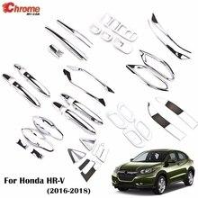 For Honda HR V HRV Vezel 2016 2017 2018 Chrome Front Rear Fog Light Door Handle Bowl Cover Decor Trim Car Styling Accessories