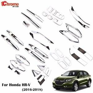 Image 1 - For Honda HR V HRV Vezel 2016 2017 2018 Chrome Front Rear Fog Light Door Handle Bowl Cover Decor Trim Car Styling Accessories