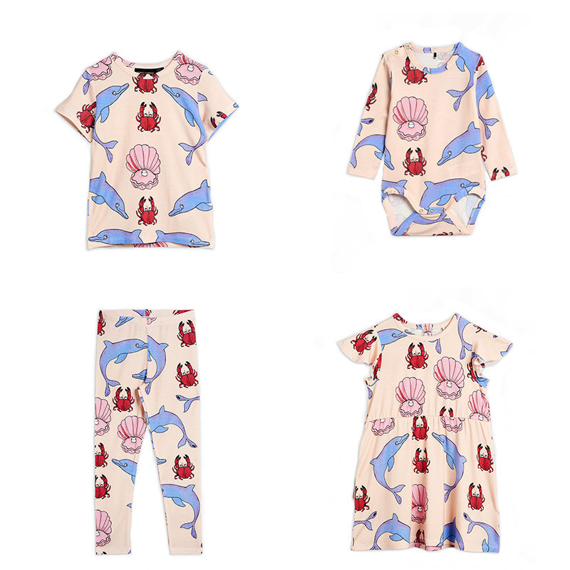 2020 MR Kids Pajama Sets Princess Costume Little Mermaid Baby Dresses Clothing Sets Family Matching Clothes Kids Leggings 1