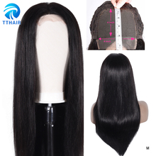 TTHAIR 4X4 Lace Closure Wig Straight Human Hair Lace Wigs for Black Woman Brazilian Remy Lace Wig Human Hair 150 Density 28 inch