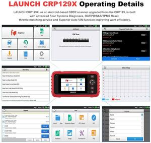 Image 4 - LAUNCH CRP129X OBD2 Scan Tool Android Based OBD2 Scanner 4 System Diagnoses Oil Reset EPB/SAS/TPMS Automotive Tool