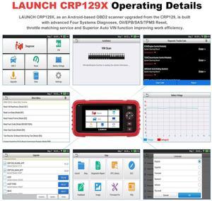 Image 4 - LAUNCH – outil de diagnostic automobile CRP129X, Scanner OBD2, Android, 4, réinitialisation de lhuile, EPB/SAS/TPMS