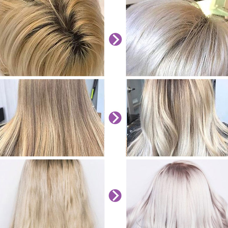 100ml Blonde Purple Hair Shampo For Blonde Hair Revitalize Blonde Bleached Highlighted Hair Sulfate Free Color Treated Shampoo in Shampoos from Beauty Health