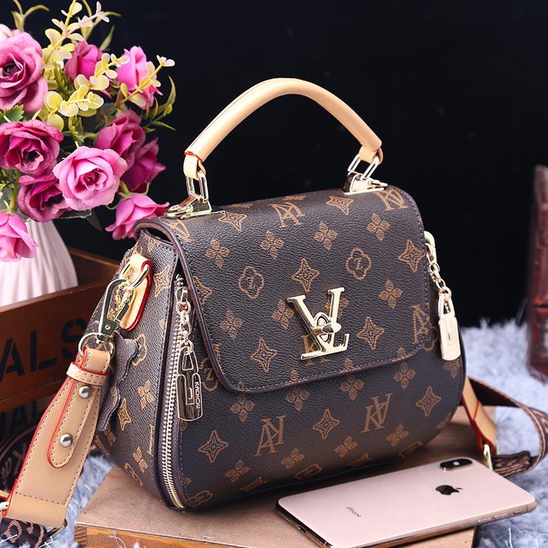 Новинка 2020, брендовая модная кожаная сумка с принтом, повседневные большие сумки-мессенджеры на одно плечо, высококачественные женские кош...