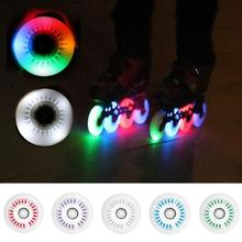 76mm In-line Speed Skate Skating Sliding LED Light Flashing Pulley Roller wheels