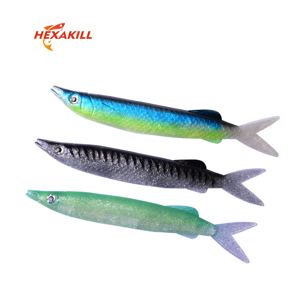 Deep Sea Big Anchovy <font><b>Fishing</b></font> <font><b>Lure</b></font> 3PCS 22cm 52g large <font><b>barracuda</b></font> artificial bait <font><b>fishing</b></font> accessories image