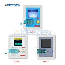 цена на T7 TC-T7-H TCR-T7 LCR-TC1 Transistor Tester ESR Diode Triode Capacitance MOS/PNP/NPN LCR ESR TFT LCD Screen Tester Multimeter