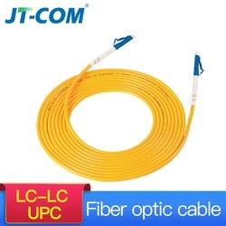 10 pces lc upc para lc upc simples 2.0mm pvc único modo cabo de remendo de fibra óptica cabo de remendo