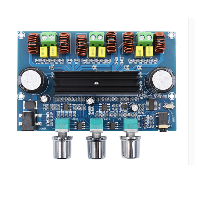 XH A305 Bluetooth 5.0 Audio Stereo Digital Power Amplifier Board TPA3116D2 50Wx2+100W 2.1 Channel Bass Subwoofer AMP Module