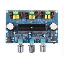 XH A305 Bluetooth 5.0 אודיו סטריאו הדיגיטלי מגבר כוח לוח TPA3116D2 50Wx2 + 100W 2.1 ערוץ בס סאב AMP מודול