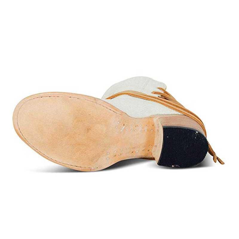 WENYUJH 2019 moda sonbahar kadın PU suni deri çizmeler orta topuklu ayakkabılar kadın halat günlük ayakkabı kısa çizmeler deri yarım çizmeler
