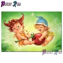5d Cartoon cute elf Diamond Painting Embroidery DIY full Square/round Mosaic Picture Rhinestone Children's decoration gift