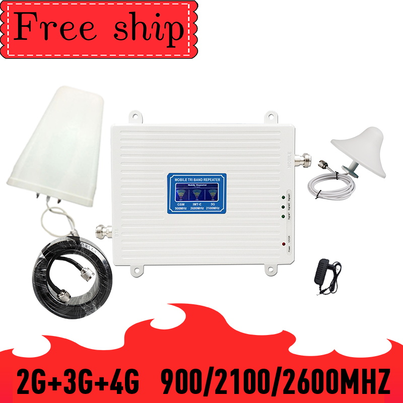 2G 3G 4G 900 2100 2600 GSM WCDMA LTE 2600 Cell Phone Signal Booster 2G 3G 4G LTE 2600 Repeater Cell Phone Booster