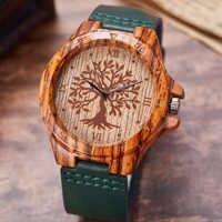 Kreative Leben Baum Imitation Holz Uhr Männer Frauen Quarz Imitieren Holz Uhr Weichen Leder Band Armbanduhr Männlichen Reloj montre uhr