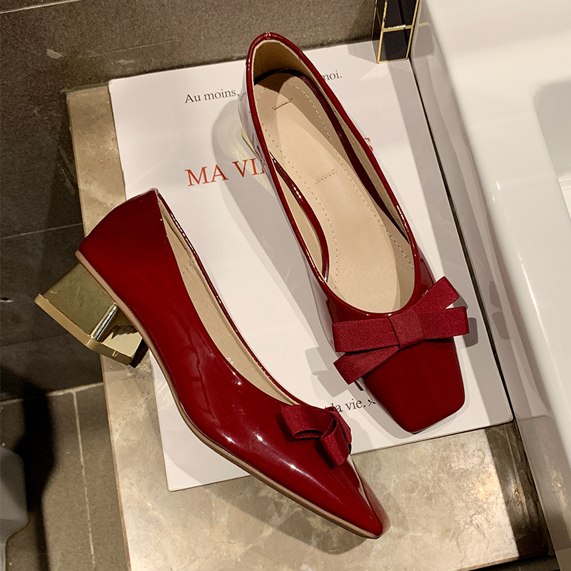 Sexy Low Heels Red Flats Women Elegant Ballerinas Shoes For Women Slip On Loafers Ladies Flat Shoes For Women Black Shoes 2019