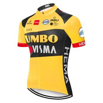 JUMBO VISMA-maillot de ciclismo para hombre, ropa deportiva para verano, 2020