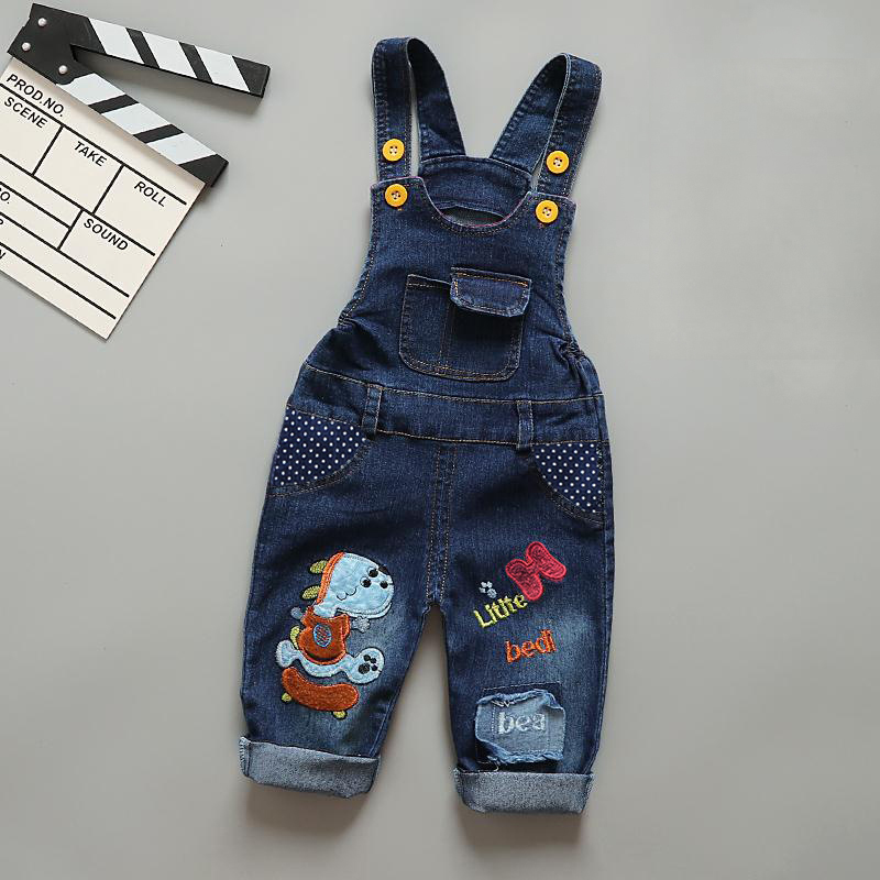 IENENS Baby Boys Girls Clothes Denim Pants Children Girl Boy Clothing Overalls