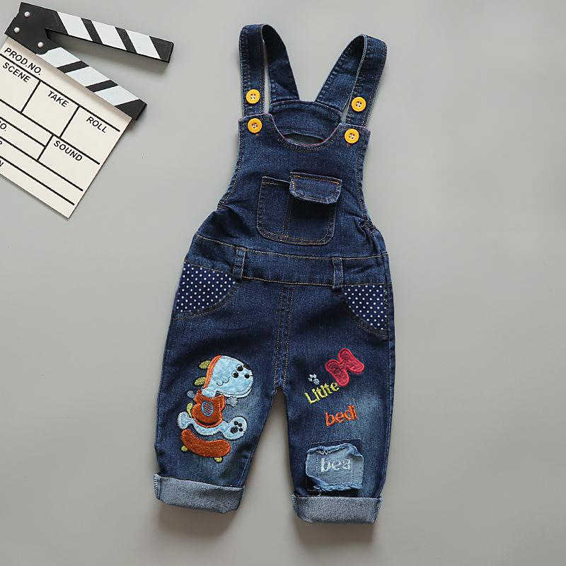 IENENS Children Trousers Boys Jeans Overalls Baby Toddler Girls Loose Denim Dungarees Long Pants Kids Boy Girl Jumpsuit 1-3Y