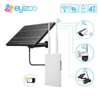 1080P IP Camera WIFI 18650 batteria esterna Powerd solare GSM Sim Card 5V 12V 4G Router per telecamera solare WIFI sistema di sicurezza domestica