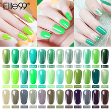 Elite99 ציפורניים ג ל פולני אמנות ציפורן באיכות גבוהה סלון טיפים 10ml ירוק צבע לספוג את אורגני UV LED נייל ג ל לכה