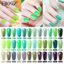 Elite99 vernis à ongles vernis à ongles de haute qualité conseils de Salon dart des ongles 10ml couleur verte tremper le vernis à ongles LED UV organique