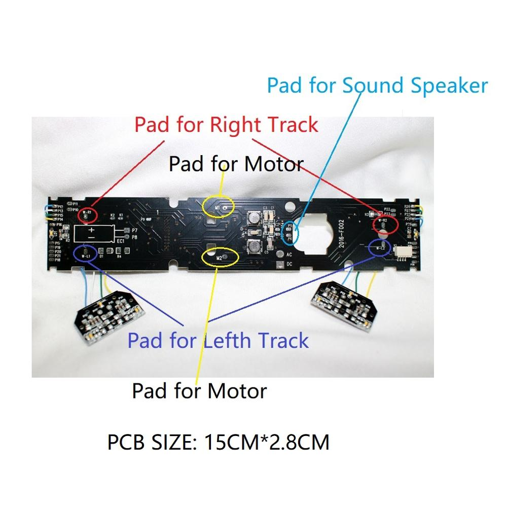 DCC Adapter Board For Locomotive To Upgrade To With Sound And Light Digitization To Dcc Train Build With Plux22 Interface 860056