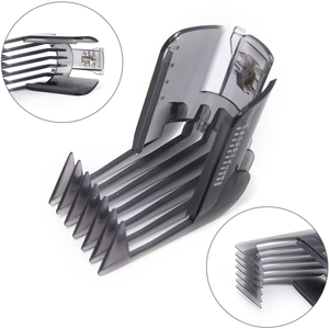 1PCS Black Hair Clippers Beard Trimmer Comb Attachment For Philips QC5130 QC5105 QC5115 QC5120 QC5125 QC5135(China)