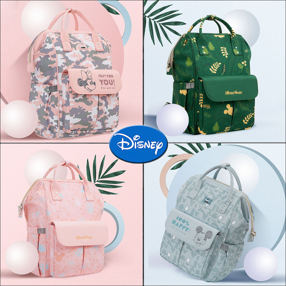 Minnie Mickey Colorful New Baby Diaper Bags Travel Maternity Bag Backpack Nappy Bag Large Capacity Backpack Mommy Multifunction