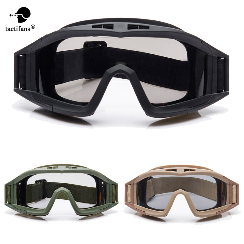 Tactical Goggle High Impact Glasses Interchangeable Protective Lens Eyewears Cycling Paintball Airsoft CS Wargame Accessories