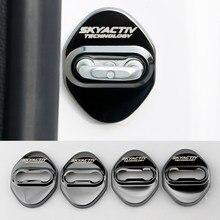 4 шт. Нержавеющая Сталь автомобильный Стайлинг дверной замок крышка для Mazda 2 3 6 DJ BM GJ CX3 CX-5 CX5 CX 5 CX7 CX9 MX5 2014-2020 аксессуары