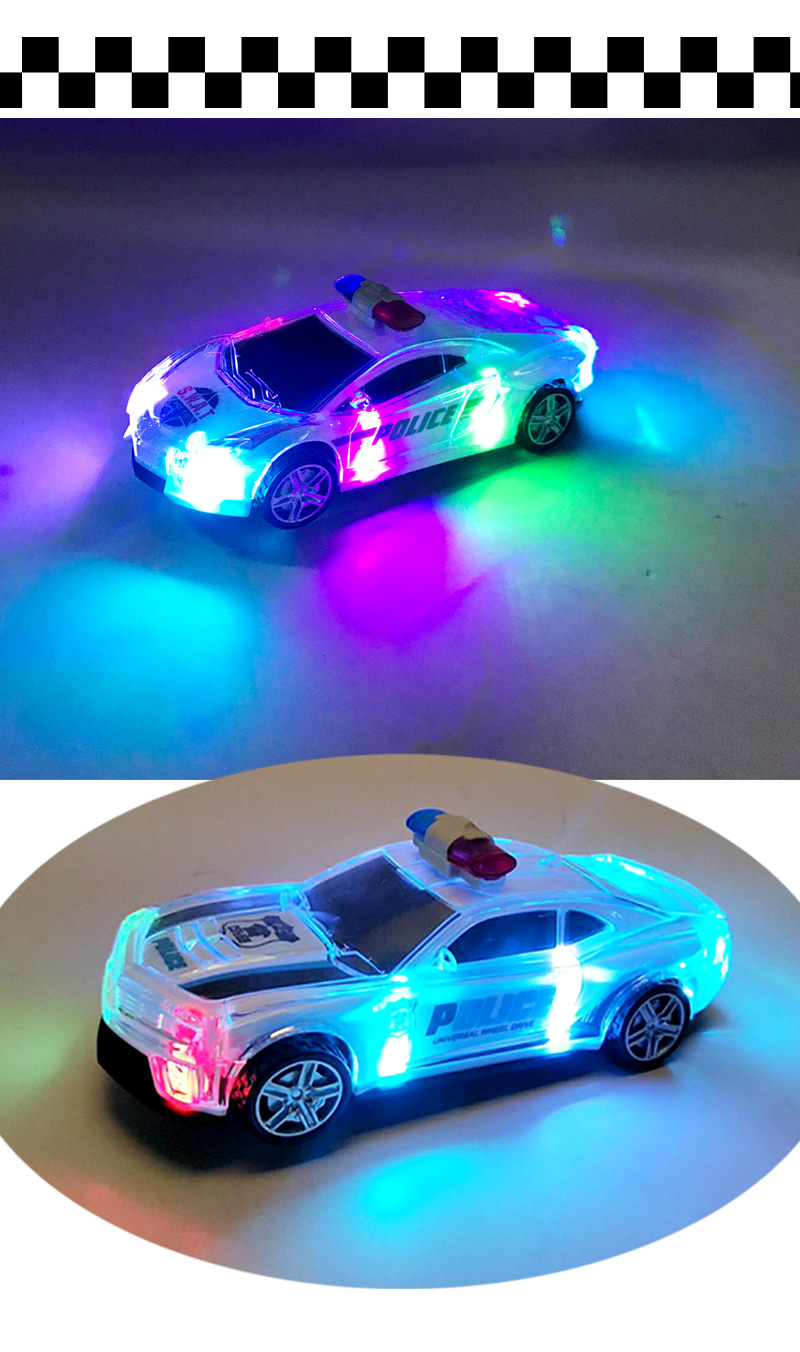 New Products CHILDREN'S Electric Toys Police Car Universal Wheel Police Car Boy Shining Sounding Toys