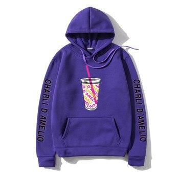 Harajuku Ice Coffee Splatter Hoodies Sweatshirts Men japanese streetwear hoodie Charli DAmelio Pullover Unisex Costume Tracksuit 24