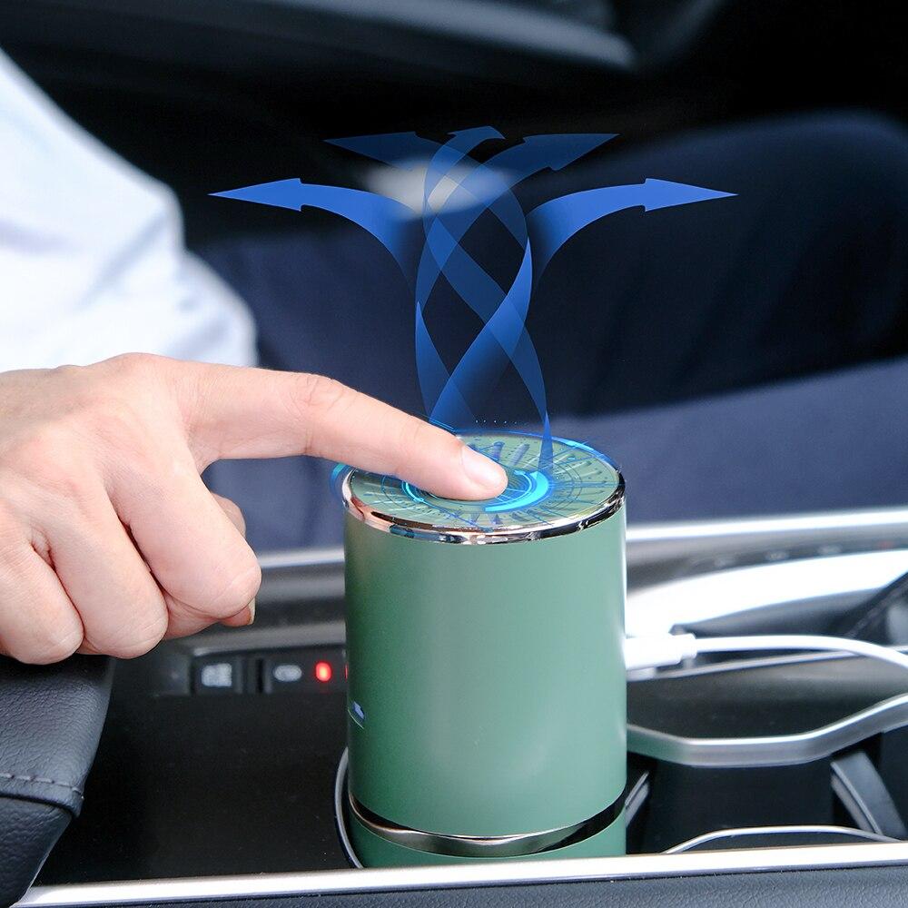Car Air Purifier Portable Anion Fresh Air Purifier Mini USB Air Cleaner Smoke PM2.5 Eliminator Ion Generator For Home Office