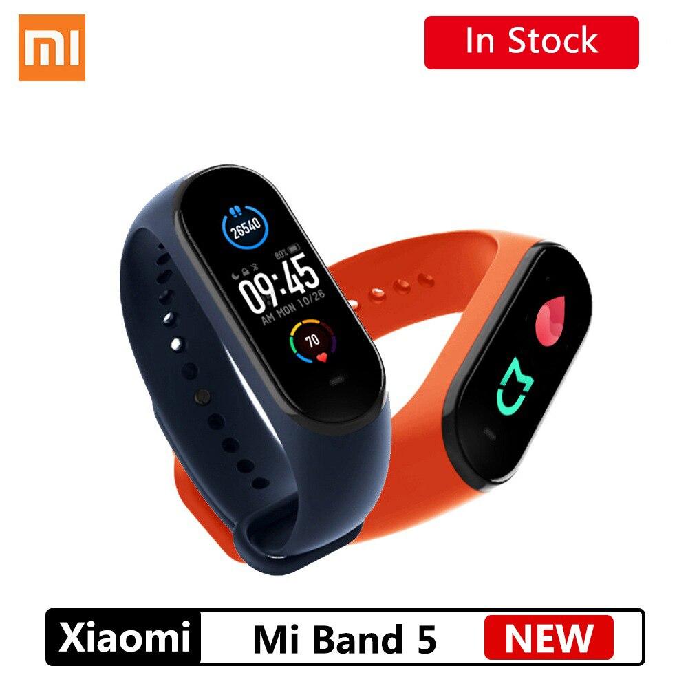 Xiaomi Mi Band 5 Smart Bracelet NFC Bluetooth 5 0 Waterproof  AMOLED Screen Heart Rate Fitness Tracker Mi band5 xiaomi