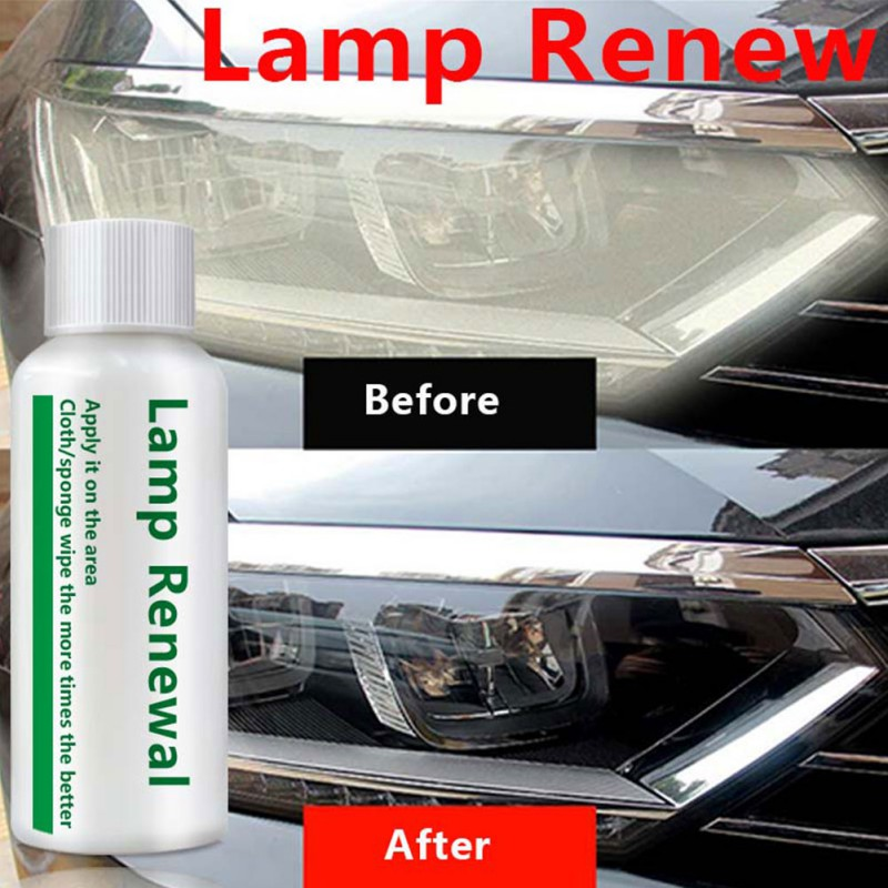Car Headlight Repair Refurbishment Liquid Auto Headlight Restoration Agent Kit Scratches Lamp Renovation Agent Polishing