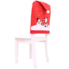 Yooap New Christmas hat chair set Non-woven Cartoon old man snowman stool  office cover