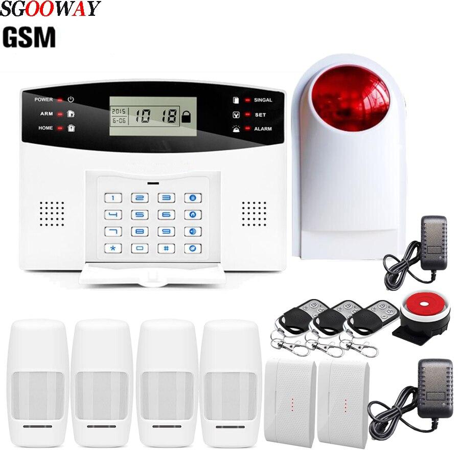 Sgooway EN RU ES PL FR беспроводная домашняя охранная GSM Сигнализация приложение пульт дистанционного управления|system android|system securitysystem alarm | АлиЭкспресс