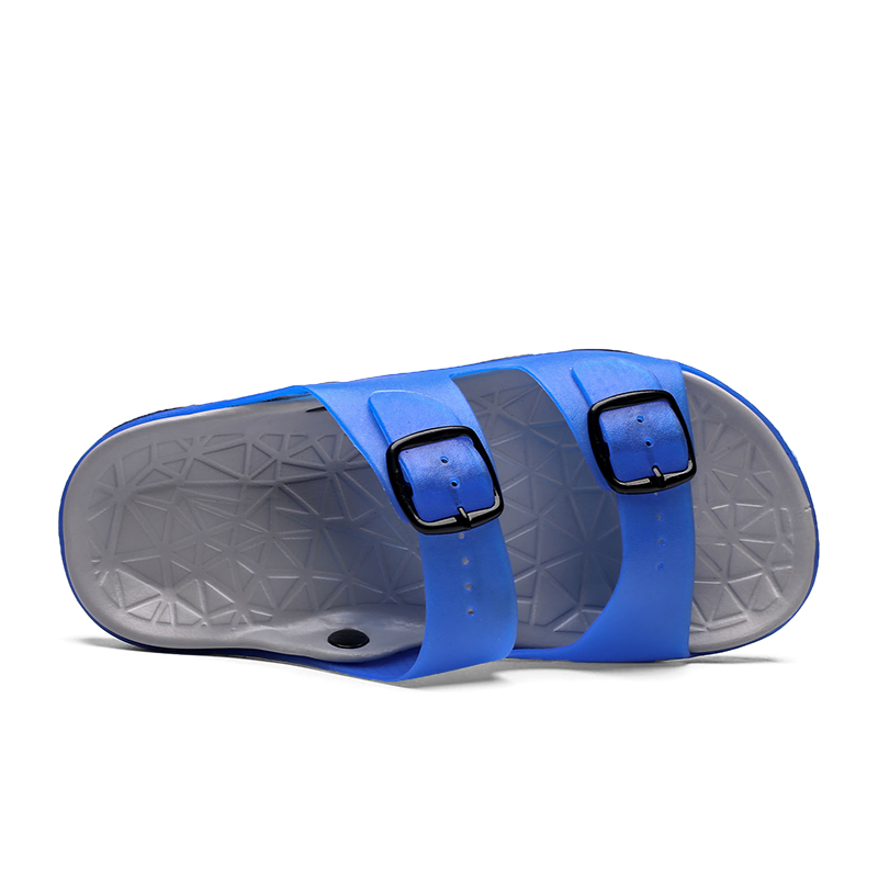 Men's Summer Slides Slippers Men Jelly Shoes Breathable Flat Slippers Water Beach Sandals Lightweight Unisex Beach Sandals 3