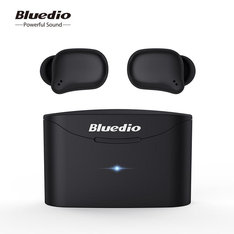 Bluetooth earphone TWS wireless earbuds Bluedio T elf 2 waterproof Sports Headset Wireless Earphone in ear with charging box-in Phone Earphones & Headphones from Consumer Electronics on AliExpress