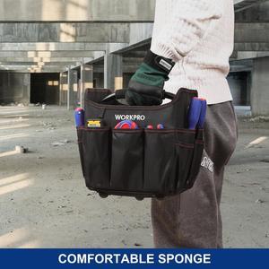 """Image 5 - WORKPRO 10 """"Kleine Werkzeug Hand Tasche Faltbare Tool Kits Tasche Schulter Tasche Handtasche Tool Organizer Lagerung Tasche"""