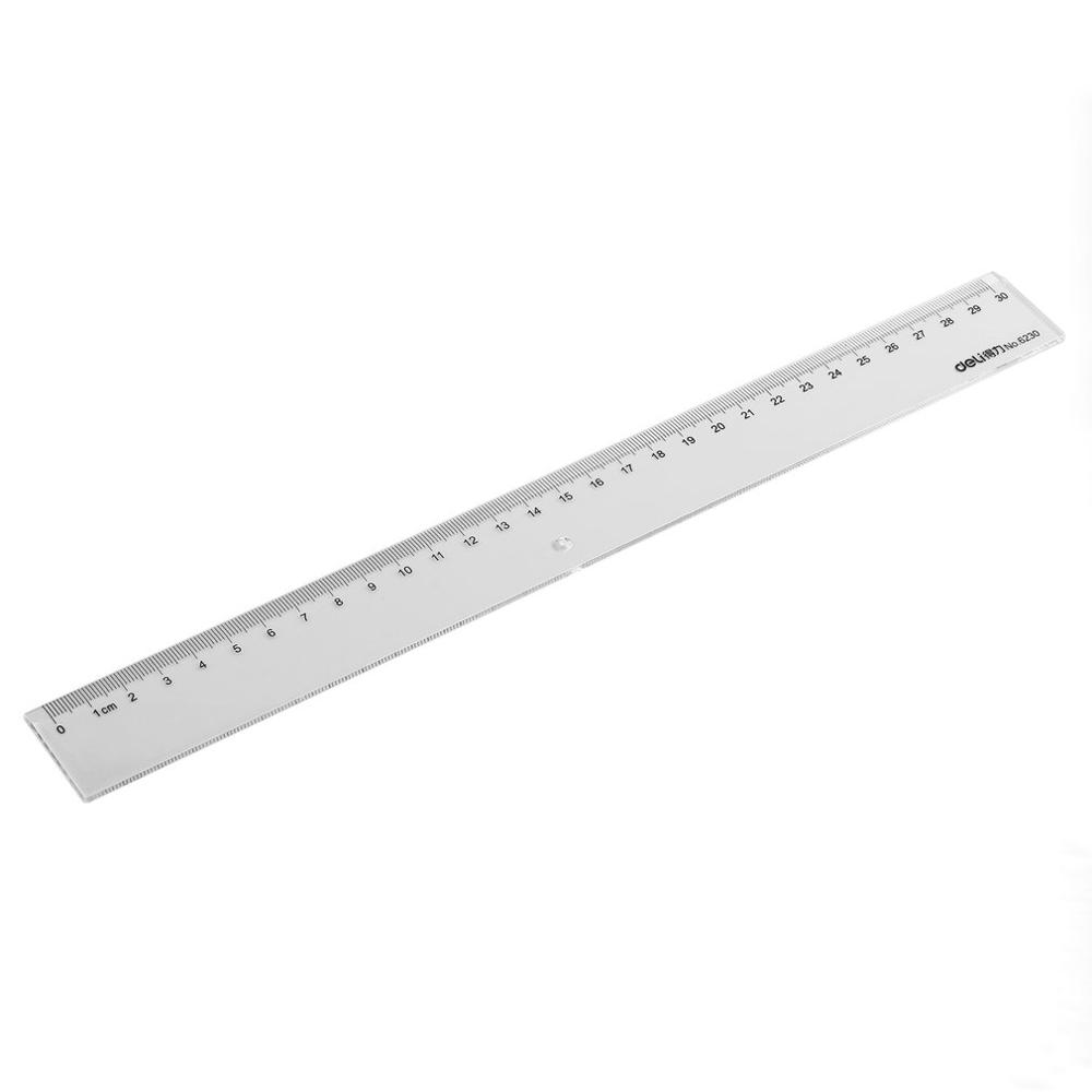 Plastic Transparent 30cm / 20CM Length Ruler Learning Drawing Tools Student Straight Ruler Stationary School Supplies