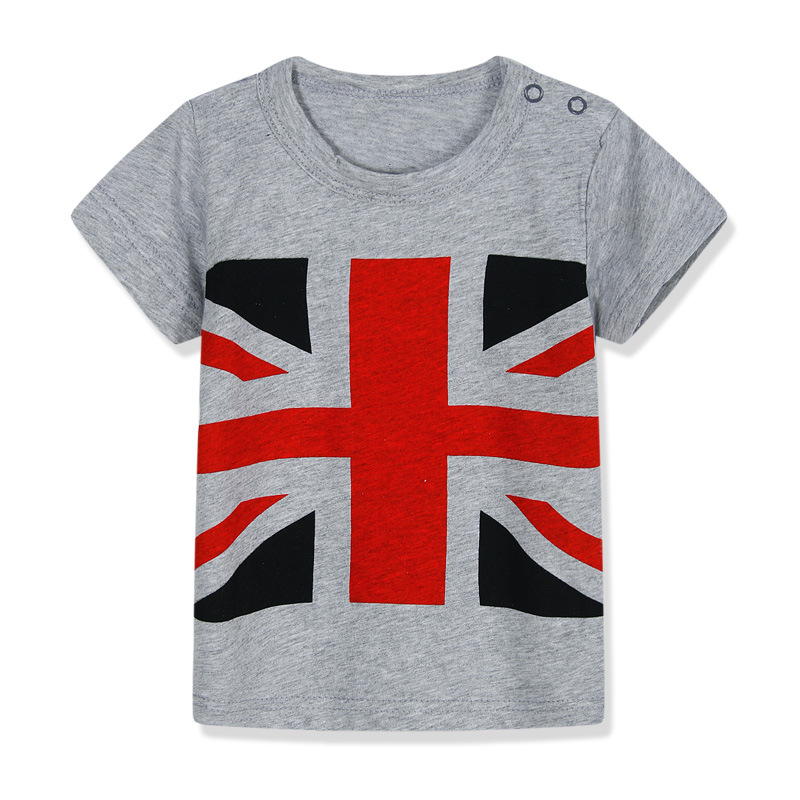 American Flag Children T-shirt Boys T Shirt Tees Short Sleeve Shirts Summer Kids Tops Cartoon Baby Boy Clothing Cotton Girls
