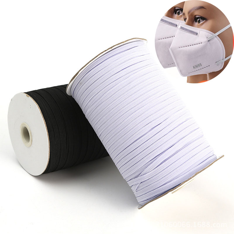 3mm 5mm 6mm Elastic Band For Mask 3mm-12mm Wide Elastic Cord Ribbon Rubber Band Tape For Diy Masks  Clothing Sewing  Accessories