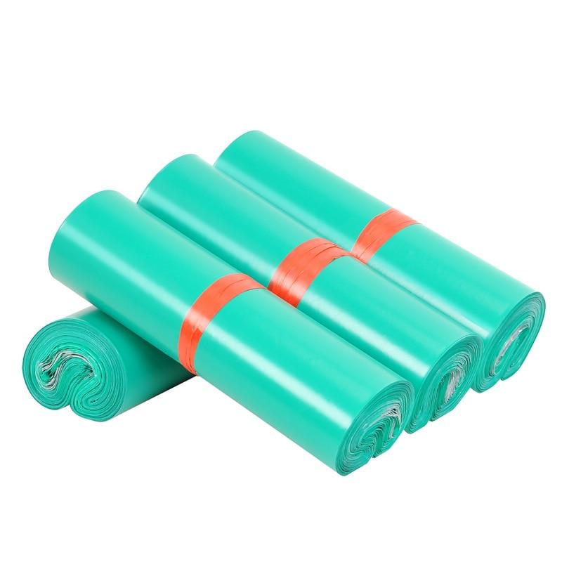 50 шт. зеленый матовый новый PE конверт пузыря почтовой Водонепроницаемый сумка полиэтиленовые пакеты для курьерской сумки матовый само-Упло...