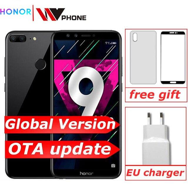 "Global versie Honor 9 Lite 3G 32G 5.65 ""Octa Core 2160*1080P Mobiele Telefoon 4 * camera 3000mAh Vingerafdruk ID"