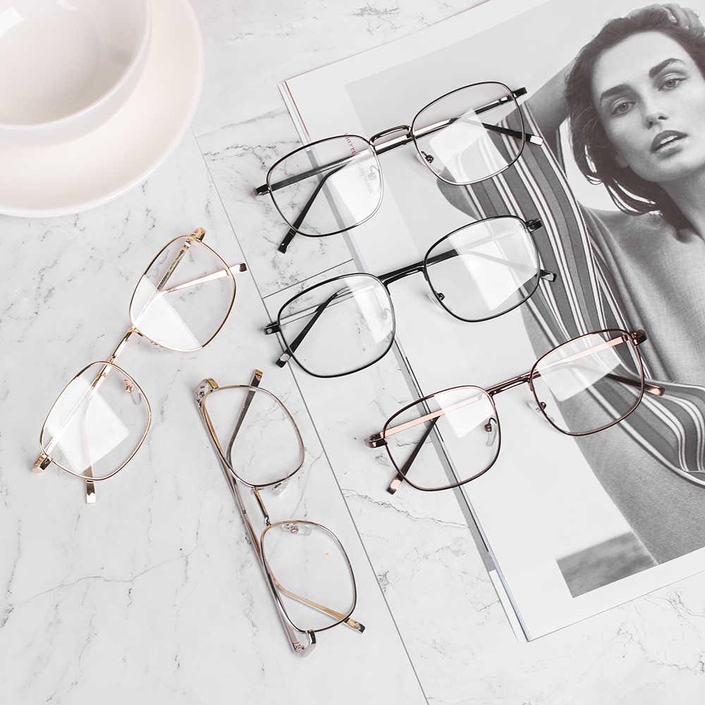 موضة خمر مربع النظارات الإطار الإناث العلامة التجارية مصمم مشهد عادي العين النظارات Gafas الرجعية النظارات دروبشيب