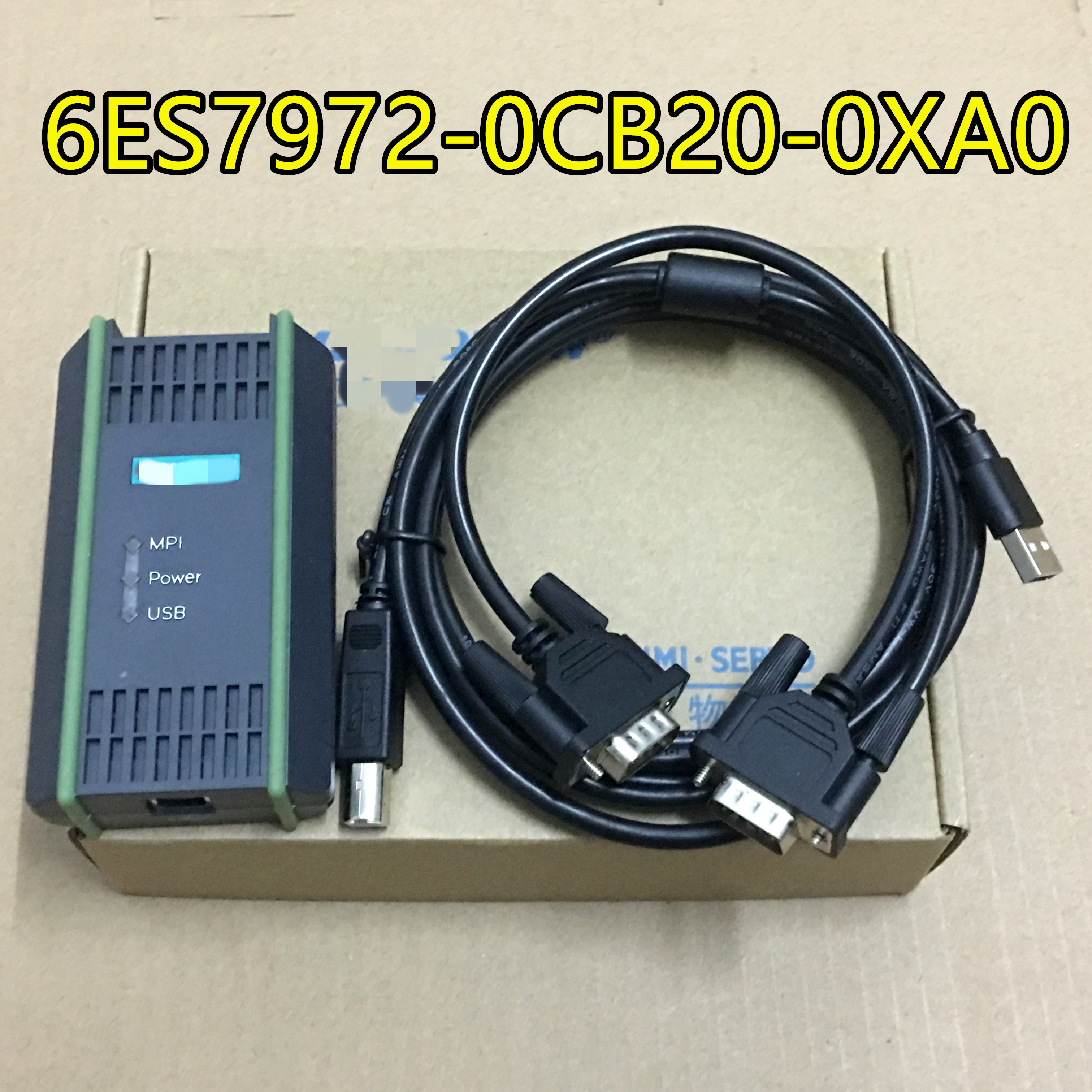 For Siemens 6ES7972-0CB20-0XA0 PC Adapter USB Cable Adapter  S7-200/300/400 RS485 Profibus/MPI/PPI 9-pin Replace