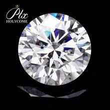 6 5MM najwyższej jakości moissanite diament D kolor VVS certyfikat moissanite серьги сережкикольцобраслетkolczyki брелок браслетысерь tanie tanio Osoba trzecia oceny WHITE round cut Grzywny Wuzhou Guangxi China loose moissanite diamond round shape Heat Cool play or fire