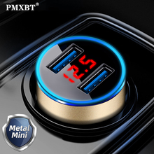 Car-Charger Smartphone Dual-Port Huawei Universal Samsung with Led-Display for X Fast