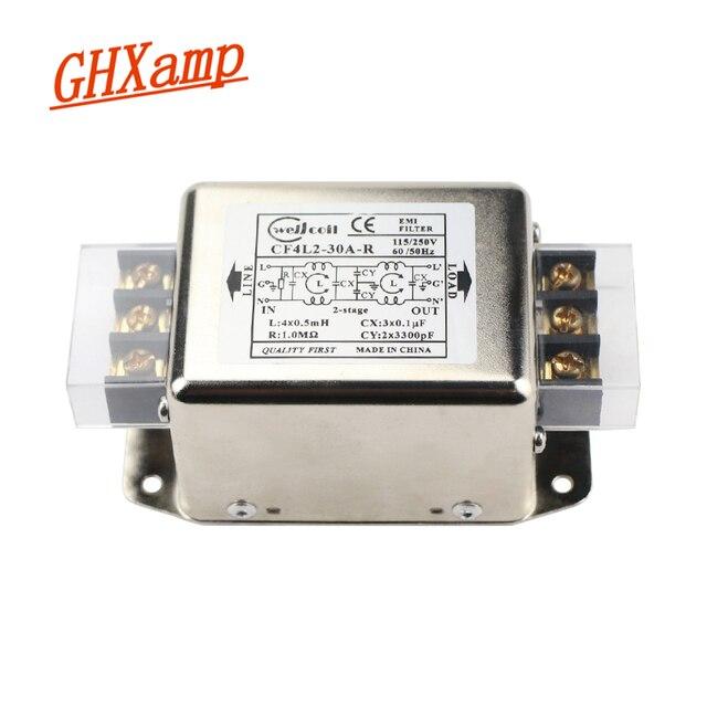 Ghxamp EMI מסנן אספקת חשמל לוח 10A 20A 30A משופר EMI מסוף בלוק מסנן עבור אודיו מגבר נגד התערבות 1PC